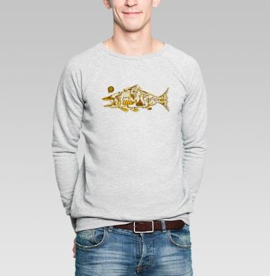 Киберпанк - Купить мужские свитшоты с рыбой в Москве, цена мужских свитшотов с рыбой  с прикольными принтами - магазин дизайнерской одежды MaryJane