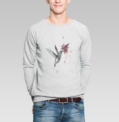 Колибрей - Купить мужские свитшоты с акварелью в Москве, цена мужских свитшотов с акварелью  с прикольными принтами - магазин дизайнерской одежды MaryJane