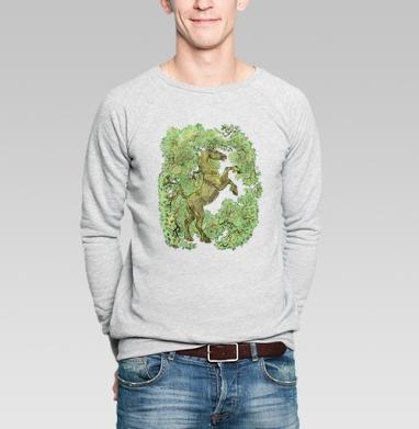 коняга - Купить мужские свитшоты с деревьями в Москве, цена мужских свитшотов с деревьями  с прикольными принтами - магазин дизайнерской одежды MaryJane