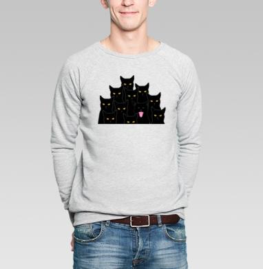 Котики detected - Купить мужские свитшоты со смайлами в Москве, цена мужских  со смайлами с прикольными принтами - магазин дизайнерской одежды MaryJane
