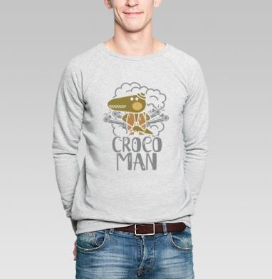 Крокодил - Купить мужские свитшоты с оружием в Москве, цена мужских свитшотов с оружием  с прикольными принтами - магазин дизайнерской одежды MaryJane