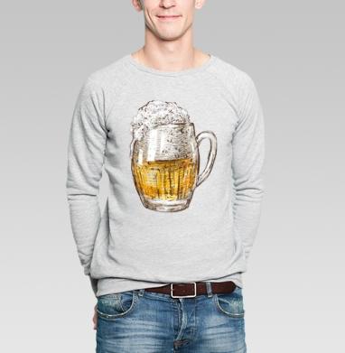 Кружка пива - Купить мужские свитшоты со смайлами в Москве, цена мужских  со смайлами с прикольными принтами - магазин дизайнерской одежды MaryJane