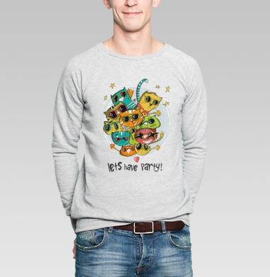 Let's have a party - Купить мужские свитшоты Новый год в Москве, цена мужских свитшотов новогодних  с прикольными принтами - магазин дизайнерской одежды MaryJane