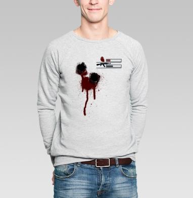 Level2 - Купить мужские свитшоты с оружием в Москве, цена мужских свитшотов с оружием  с прикольными принтами - магазин дизайнерской одежды MaryJane