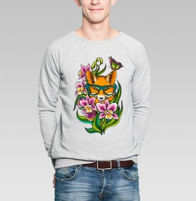 Лиса в очечах - Купить мужские свитшоты хипстерские в Москве, цена мужских свитшотов хипстерских  с прикольными принтами - магазин дизайнерской одежды MaryJane