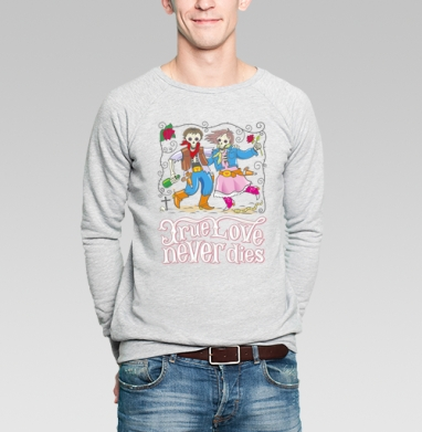 Love - Купить мужские свитшоты с черепом в Москве, цена мужских  с черепом  с прикольными принтами - магазин дизайнерской одежды MaryJane