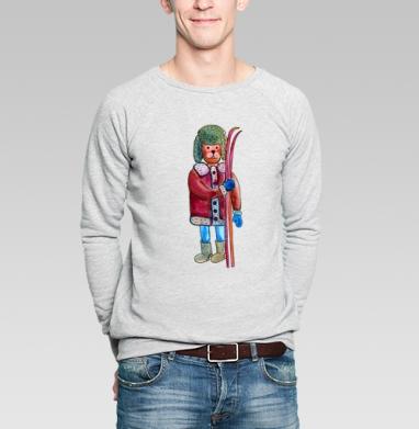 Лыжи - Купить мужские свитшоты спортивные в Москве, цена мужских  спортивных  с прикольными принтами - магазин дизайнерской одежды MaryJane