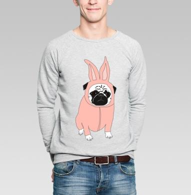 Мопс в костюме кролика - Купить свитшот