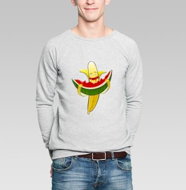 Мультифрукт  - Купить мужские свитшоты с фруктами в Москве, цена мужских свитшотов с фруктами  с прикольными принтами - магазин дизайнерской одежды MaryJane