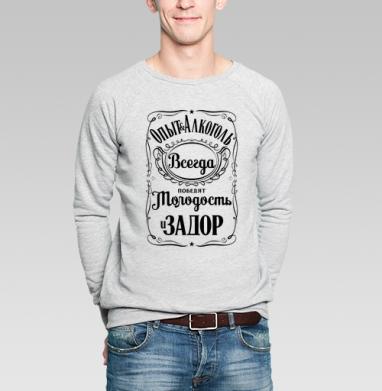 Опыт и Алкоголь Всегда Победят Молодость и Задор. Футболки Jack Daniels. - Купить мужские свитшоты с приколами в Москве, цена мужских свитшотов с приколами с прикольными принтами - магазин дизайнерской одежды MaryJane