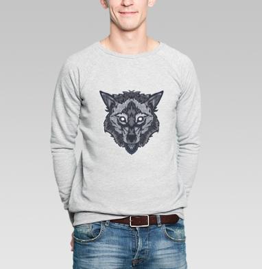 Оскалившийся волк - Купить мужские свитшоты с природой в Москве, цена мужских свитшотов с природой  с прикольными принтами - магазин дизайнерской одежды MaryJane