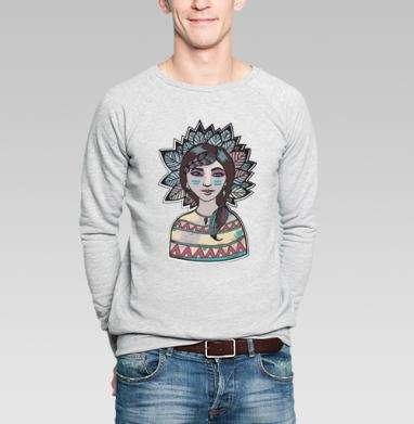 Пёстрый лист - Купить мужские свитшоты с персонажами в Москве, цена мужских свитшотов с персонажами  с прикольными принтами - магазин дизайнерской одежды MaryJane