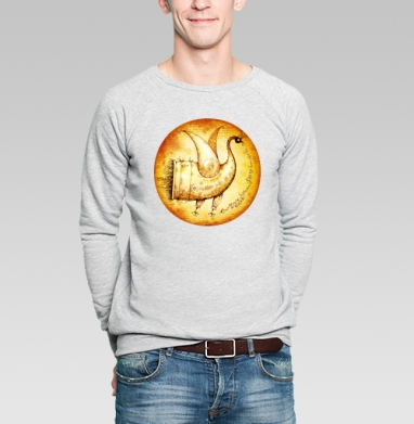 Птичка счастья - Купить мужские свитшоты винтажные в Москве, цена мужских свитшотов винтажных  с прикольными принтами - магазин дизайнерской одежды MaryJane
