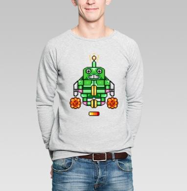 Робот-йог - Купить мужские свитшоты с роботами в Москве, цена мужских свитшотов с роботами с прикольными принтами - магазин дизайнерской одежды MaryJane