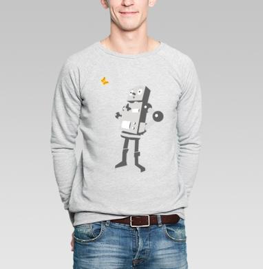 Robotics - Купить мужские свитшоты с бабочками в Москве, цена мужских свитшотов с бабочкой с прикольными принтами - магазин дизайнерской одежды MaryJane
