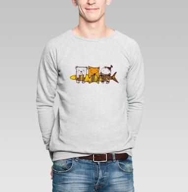 Рыбачки - Купить мужские свитшоты с рыбой в Москве, цена мужских свитшотов с рыбой  с прикольными принтами - магазин дизайнерской одежды MaryJane