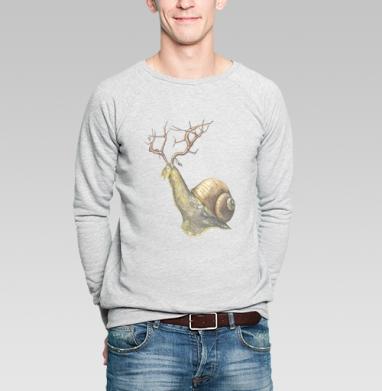 Snail - Купить мужские свитшоты с насекомыми в Москве, цена мужских свитшотов с насекомыми  с прикольными принтами - магазин дизайнерской одежды MaryJane