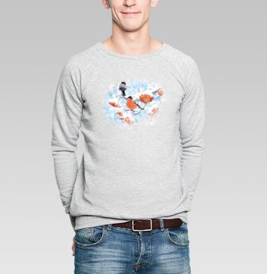 Снегири - Купить мужские свитшоты ретро в Москве, цена мужских свитшотов ретро  с прикольными принтами - магазин дизайнерской одежды MaryJane