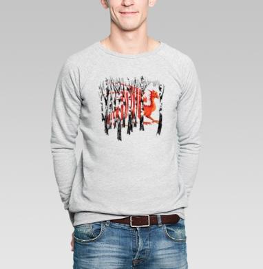 Среди родных берёз - Купить мужские свитшоты Новый год в Москве, цена мужских свитшотов новогодних  с прикольными принтами - магазин дизайнерской одежды MaryJane