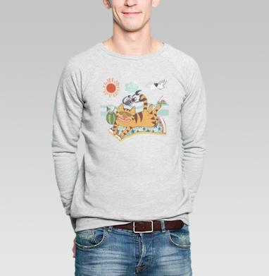 Summer! Sea! - Купить мужские свитшоты с солнцем в Москве, цена мужских свитшотов с солнцем  с прикольными принтами - магазин дизайнерской одежды MaryJane