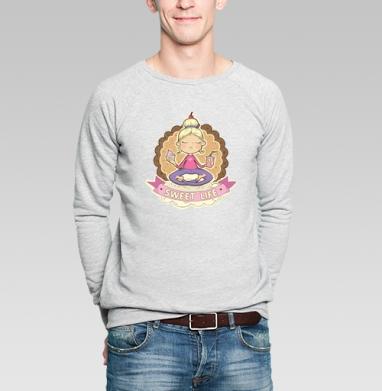 Sweet  - Купить мужские свитшоты сладости в Москве, цена мужских свитшотов со сладостями  с прикольными принтами - магазин дизайнерской одежды MaryJane