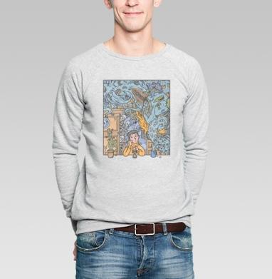 Tired - Купить мужские свитшоты с космосом в Москве, цена мужских  с космосом  с прикольными принтами - магазин дизайнерской одежды MaryJane