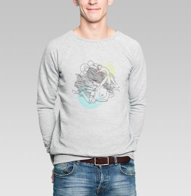 Twins - Купить мужские свитшоты абстрактные в Москве, цена мужских свитшотов абстрактных  с прикольными принтами - магазин дизайнерской одежды MaryJane