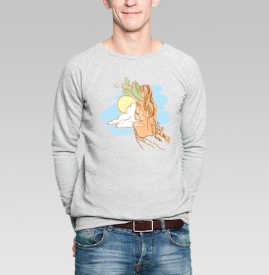 Умиротворение - Купить мужские свитшоты с йогой в Москве, цена мужских свитшотов с йогой  с прикольными принтами - магазин дизайнерской одежды MaryJane