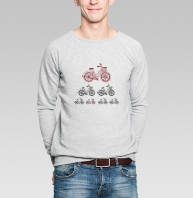 Велодвижение - Купить мужские свитшоты с велосипедом в Москве, цена мужских  с велосипедом  с прикольными принтами - магазин дизайнерской одежды MaryJane
