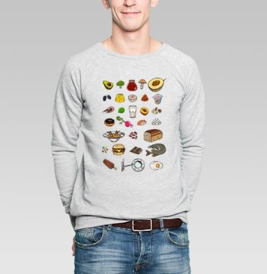Вкусный алфавит - Купить мужские свитшоты с мороженным в Москве, цена мужских  с мороженным  с прикольными принтами - магазин дизайнерской одежды MaryJane