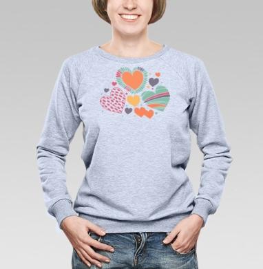 Оттенки чувств - Купить детские свитшоты абстрактные в Москве, цена детских свитшотов абстрактных  с прикольными принтами - магазин дизайнерской одежды MaryJane