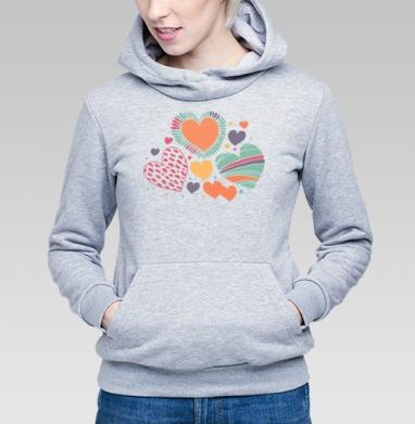 Оттенки чувств - Купить детские толстовки абстрактные в Москве, цена детских толстовок абстрактных  с прикольными принтами - магазин дизайнерской одежды MaryJane