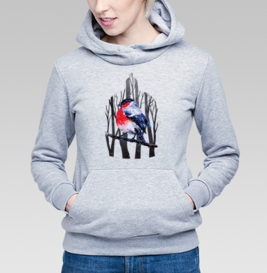 Снегирь на ветке - Купить детские толстовки с деревьями в Москве, цена детских толстовок с деревьями  с прикольными принтами - магазин дизайнерской одежды MaryJane