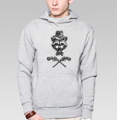 Гангста енот - Купить мужские толстовки Ниндзя в Москве, цена мужских  Ниндзя  с прикольными принтами - магазин дизайнерской одежды MaryJane