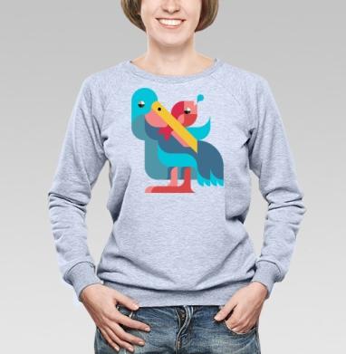 Пеликан - Купить детские свитшоты с птицами в Москве, цена детских свитшотов с птицами  с прикольными принтами - магазин дизайнерской одежды MaryJane