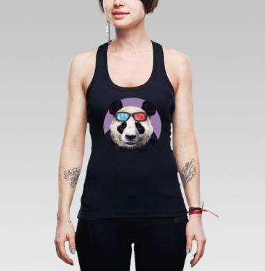 Панда и супер-очки - Купить мужские Майки-борцовки с пандой в Москве, цена мужских маек борцовок с пандами  с прикольными принтами - магазин дизайнерской одежды MaryJane