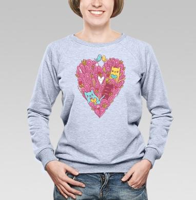 Котиколюбовь - Купить детские свитшоты для влюбленных в Москве, цена детских свитшотов дли влюбленных  с прикольными принтами - магазин дизайнерской одежды MaryJane