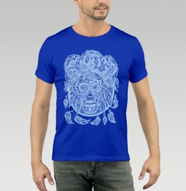 Футболка мужская синяя - Сон пойманный ловцом