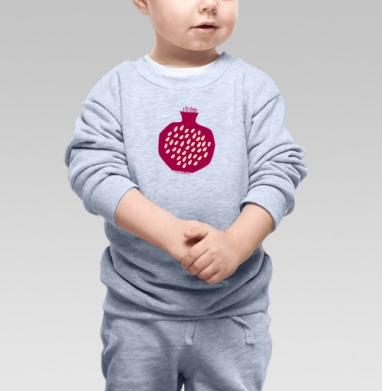 Гранатовый всплеск - Купить детские свитшоты с фруктами в Москве, цена детских свитшотов с фруктами  с прикольными принтами - магазин дизайнерской одежды MaryJane
