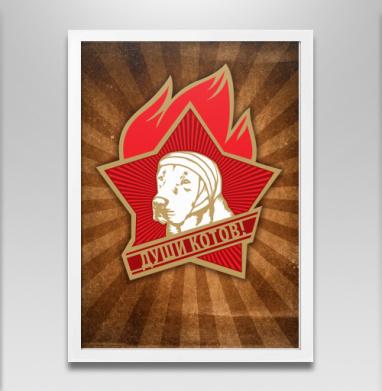 Души котов! - Постер в белой раме, СССР