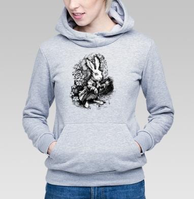 Заяц из алисы в стране чудес - Купить детские толстовки с графикой в Москве, цена детских толстовок с графикой  с прикольными принтами - магазин дизайнерской одежды MaryJane