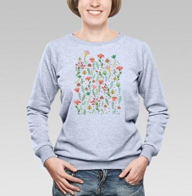 Цветочная поляна - Купить детские свитшоты паттерн в Москве, цена детских свитшотов с паттерном  с прикольными принтами - магазин дизайнерской одежды MaryJane