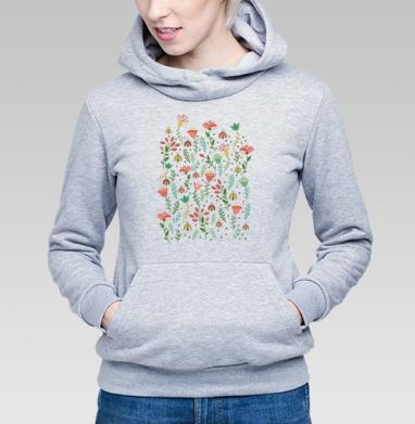 Цветочная поляна - Купить детские толстовки паттерн в Москве, цена детских толстовок с паттерном  с прикольными принтами - магазин дизайнерской одежды MaryJane