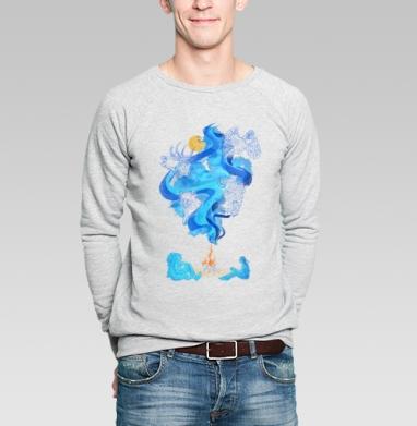 Беседа у костра - Купить мужские свитшоты нежность в Москве, цена мужских свитшотов нежность  с прикольными принтами - магазин дизайнерской одежды MaryJane