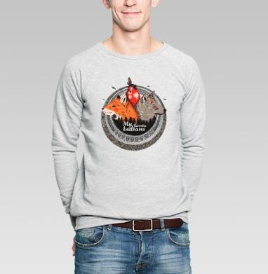 Мои любимые индейцы  - Купить мужские свитшоты с индейцами в Москве, цена мужских свитшотов с индейцами  с прикольными принтами - магазин дизайнерской одежды MaryJane