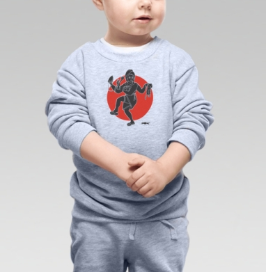 Cвитшот Детский серый меланж - ХОЗЯЮШКА ШИВА