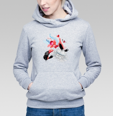 Влюблённые птицы - Купить детские толстовки паттерн в Москве, цена детских толстовок с паттерном  с прикольными принтами - магазин дизайнерской одежды MaryJane