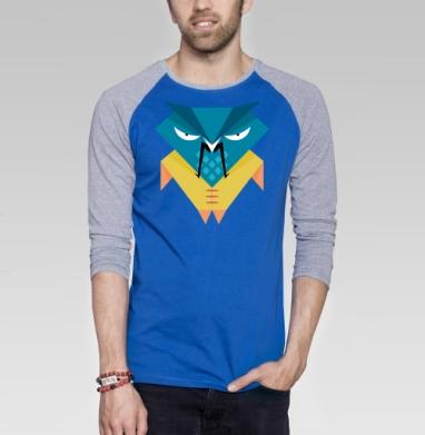 The Owls are not what they seem - Футболка мужская с длинным рукавом синий / серый меланж, персонажи, Популярные