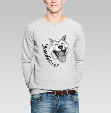 Улыбайся! - Купить мужские свитшоты с собаками в Москве, цена мужских свитшотов с собаками  с прикольными принтами - магазин дизайнерской одежды MaryJane