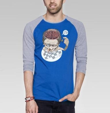 Тараканы - Футболка мужская с длинным рукавом синий / серый меланж, дым, Популярные